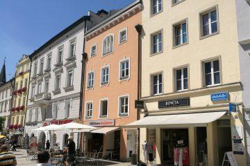 Blick in die Fußgängerzone von Passau