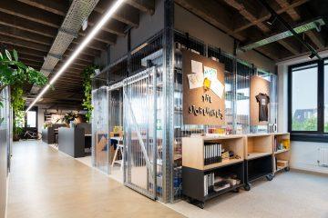 Blick in die neuen Büroräume von Umdasch in Duisburg