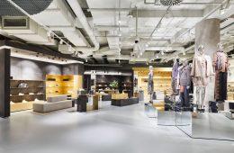 Blick in den umgebauten Breuninger Department Store in Nürnberg