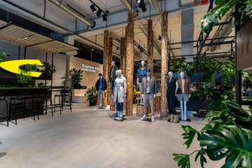 Blick in den Flagship Showroom von Camel Active in Düsseldorf