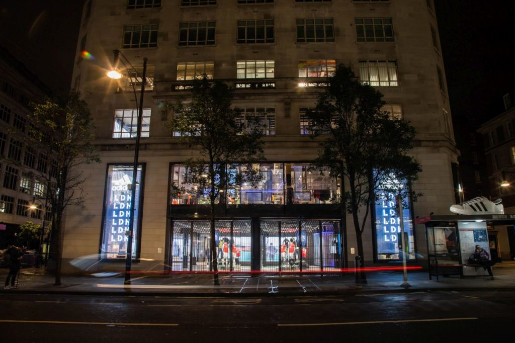 Fassade des adidas Stores in London