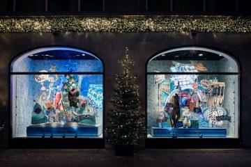 Weihnachtsschaufenster 2020 des KaDeWe