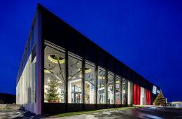 Fassade des Warema Sun Forums in Wertheim